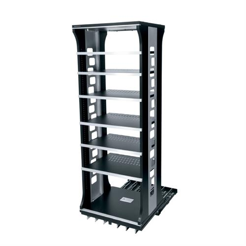 View a larger image of the Middle Atlantic Slide and Rotate Rack (42 H, 21 D, 6 Shelf) ASR-42-HD.