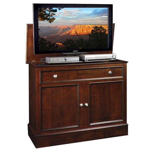 View a large image of the TV Lift Cabinet Traveler Lift for 32 to 50 inch Screens Rich Tobacco AT006078 here.