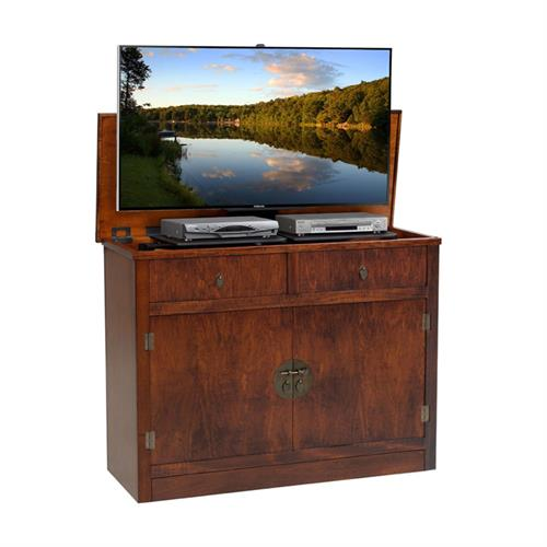 View a large image of the TV Lift Cabinet AT006642-CARAMEL Adagio Lift for 37-48 inch Screens here.