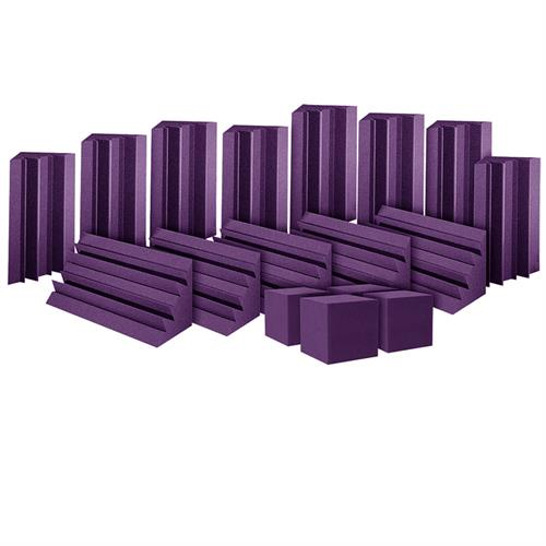 View a large image of the Auralex Acoustics ATOM12 Bass Trap System with Cornerfill Cubes Purple ATOM12PUR here.