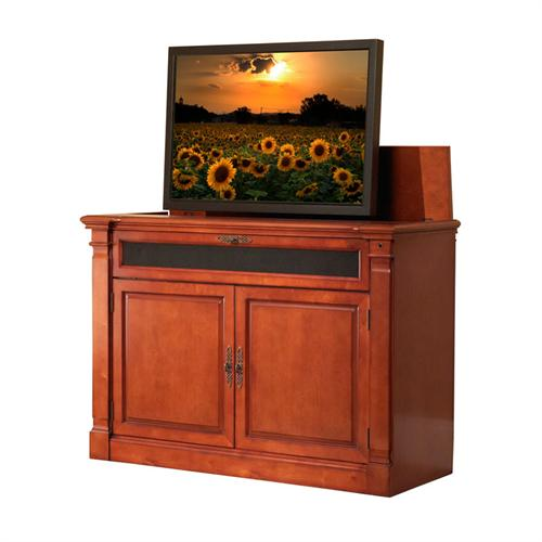 View a large image of the Touchstone Adonzo Theater Lift Cabinet for 32-60 inch Screens Brandy 70052 here.