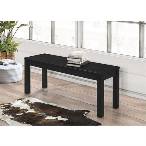 View a large image of the Walker Edison Homestead Solid Wood Dining Bench Black B48HSBL here.