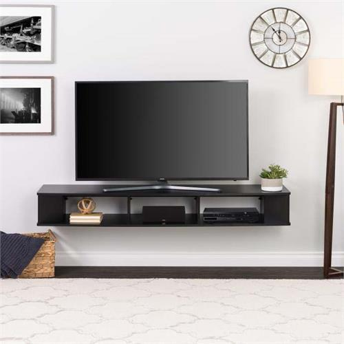 Prepac Wall Mounted 75 Inch Tv Stand Black Bctw 1102 1