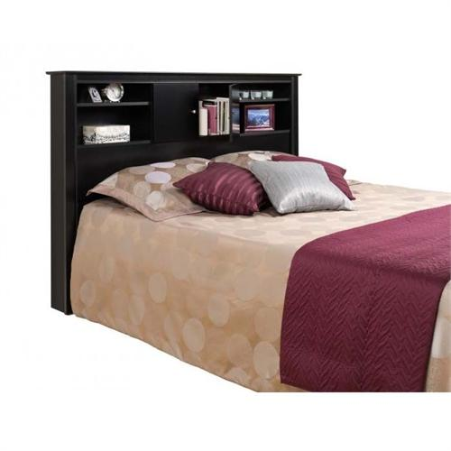 View a large image of the Prepac Kallisto Series Full-Queen Headboard with Doors Black BHFX-0302-1 here.