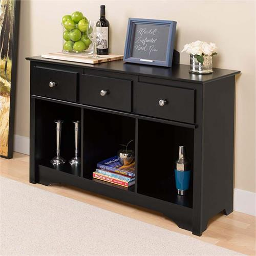 View a large image of the Prepac Living Room Console Table (Black) BLC-4830-K here.