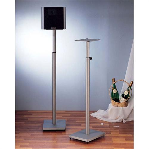 View a larger image of the VTI BL Series 34-59 inch Adjustable Height Speaker Stands (Silver) BLE101S.