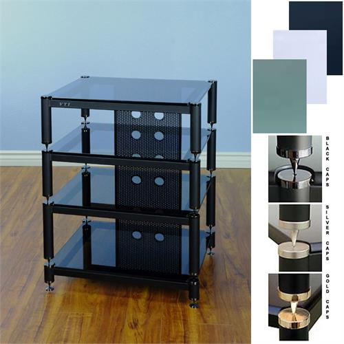 View a large image of the VTI BLG Series Extended Height Audio Rack Various Finishes BLG404-13 here.