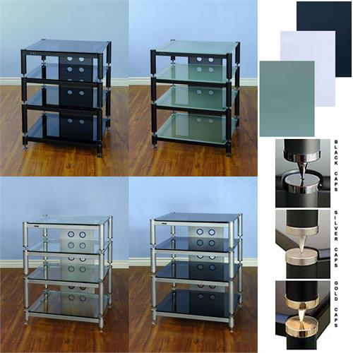 View a large image of the VTI BLG Series Audio Rack Various Finishes BLG404 here.