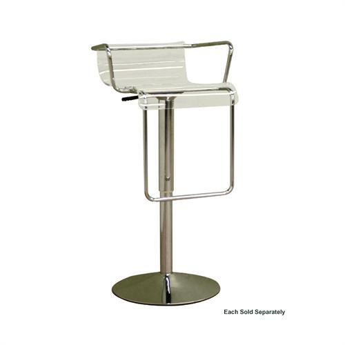 View a large image of the Wholesale Interiors Adjustable Swivel Bar Stool Clear BS-078-CLEAR here.
