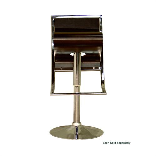 View a large image of the Wholesale Interiors Adjustable Swivel Bar Stool Brown BS-322-BROWN here.