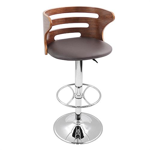 View a large image of the LumiSource Brown Cosi Barstool Walnut Brown BS-JY-COSI BN here.