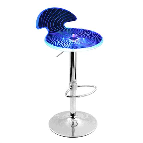 View a large image of the LumiSource Spyra Bar Stool with Color Changing LED Lights Clear Acrylic BS-SPYRA PC here.