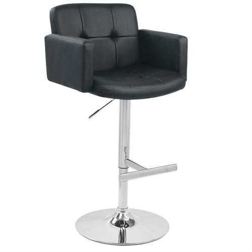View a large image of the LumiSource Stout Bar Stool Black BS-TW-STOUT BK here.