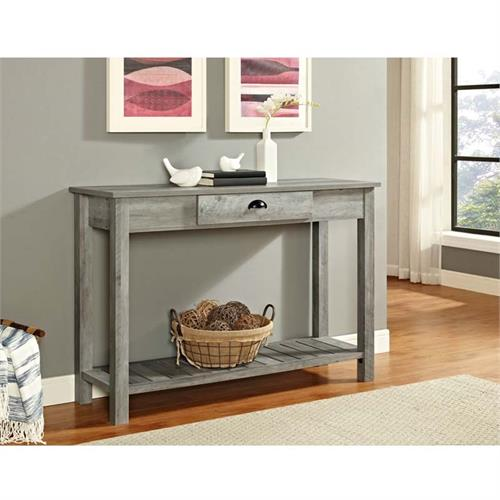View a large image of the Walker Edison Country Style Entry Console Table Grey AF48CYETGW here.