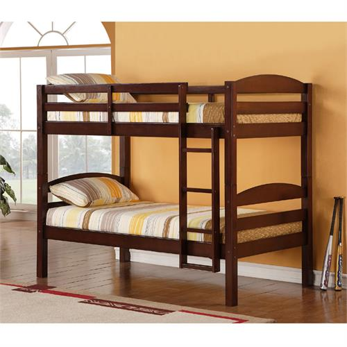 View a large image of the Walker Edison Wooden Bunk Beds Espresso BWSTOTES here.