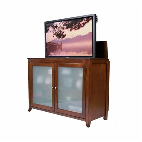 View a large image of the Touchstone Brookside Theater Lift Cabinet for 32-60 inch Screens Mocha 70054 here.