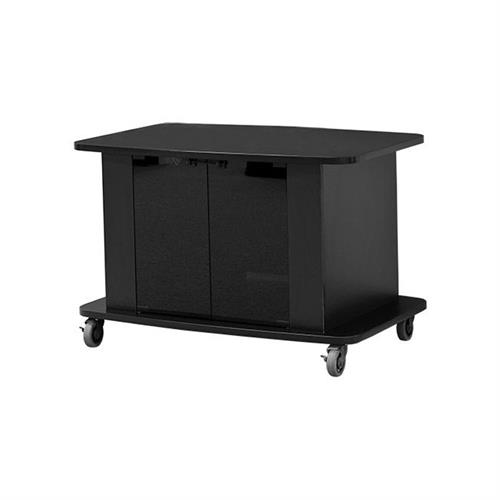 View a large image of the Audio Visual Furniture - VFI Tech Series Wide Body Cart Black C2736 here.