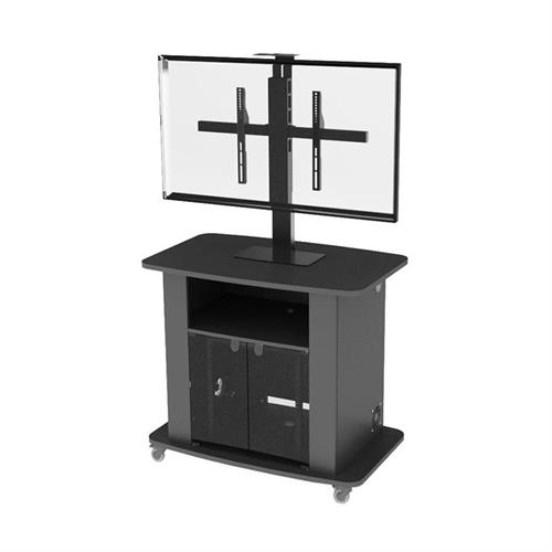 View a large image of the Audio Visual Furniture Large Single Display Tall Monitor Cart C2736-42-S here.