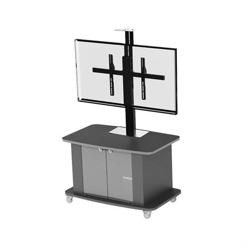 View a large image of the Audio Visual Furniture Large Single Display Monitor Cart C2736-S here.