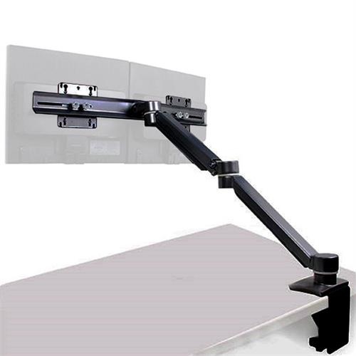 View a large image of the Audio Visual Furniture - VFI 15-22 inch Dual Adjustable Monitor Arm for Carts or Podiums Black C900D here.
