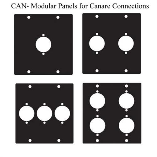 View a large image of the Chief Raxxess Modular Panels for Canare Connectors Black CAN here.