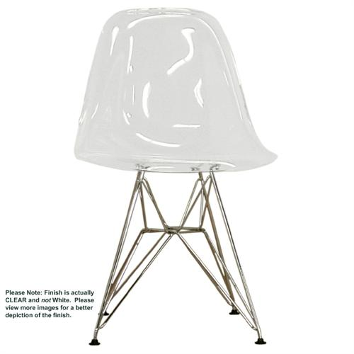 View a larger image of the Wholesale Interiors Set of Two Clear Acrylic Side Chairs (Clear) CC-231-CLEAR.
