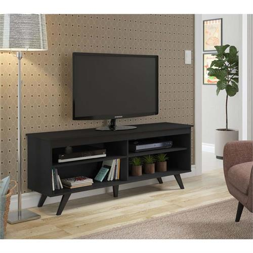 View a large image of the Walker Edison Simple Contemporary 58 inch TV Stand Black W58SCCBL here.