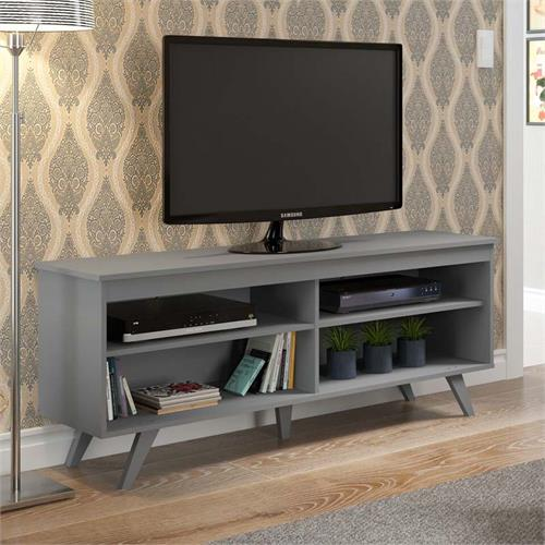 View a large image of the Walker Edison Simple Contemporary 58 inch TV Stand Grey W58SCCGY here.