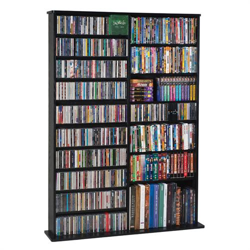 View a large image of the Leslie Dame Wall Media Rack Black CDV-1000-B here.