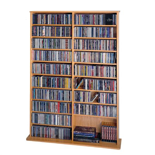 View a large image of the Leslie Dame Wall Media Rack Oak CDV-1000-OAK here.