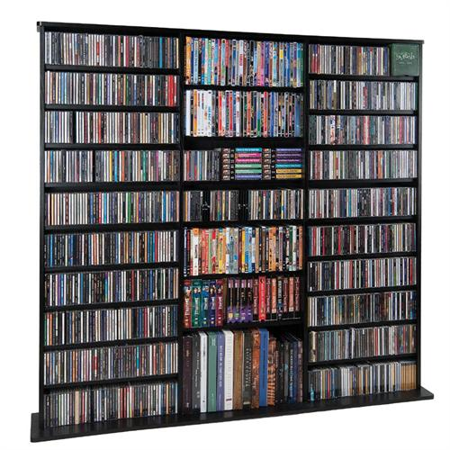 View a large image of the Leslie Dame Wall Multi-Media Wall Rack Black CDV1500-B here.