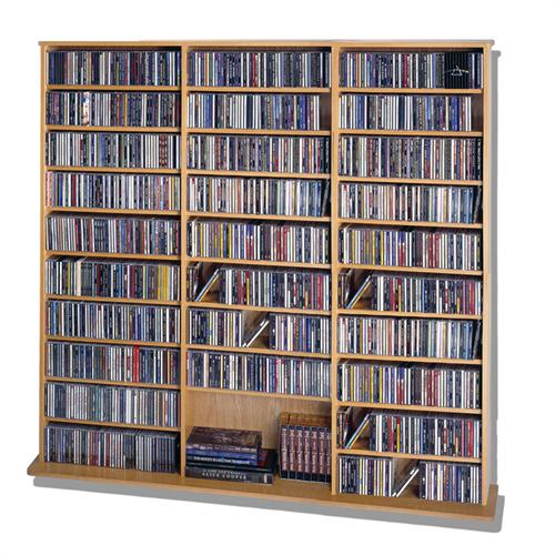 View a larger image of the Leslie Dame Wall Multi-Media Wall Rack (Oak) CDV1500-OAK.