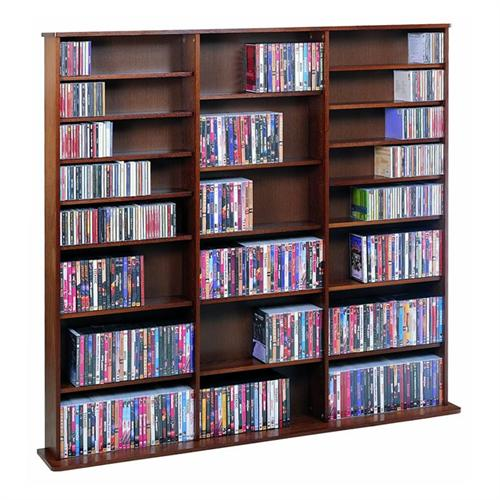 View a larger image of the Leslie Dame Wall Multi-Media Wall Rack (Walnut) CDV1500W.