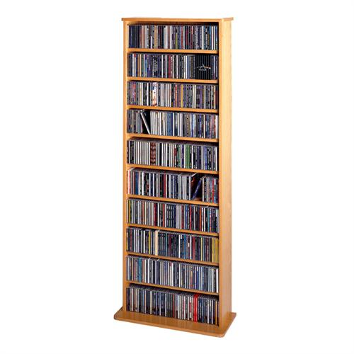 View a large image of the Leslie Dame Wall Media Rack Oak CDV500-OAK here.