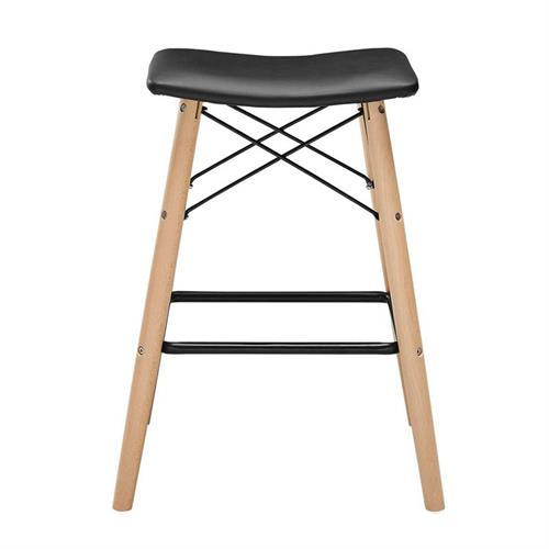 View a large image of the Walker Edison Retro Modern Faux Leather 26 inch Counter Stool Black CHRM26BL here.