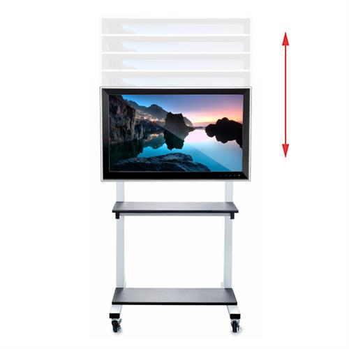 View a large image of the Luxor Crank Adjustable TV Cart for 32-80 inch Screens CLCD here.