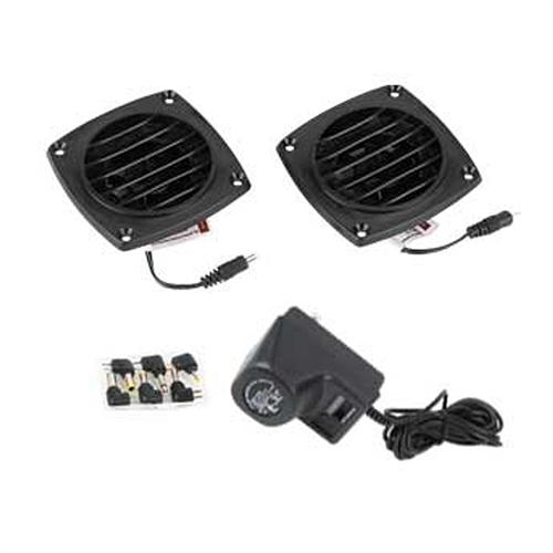 View a large image of the Chief Raxxess Active Louvered Vent System with Two Fans Black CLS-A here.