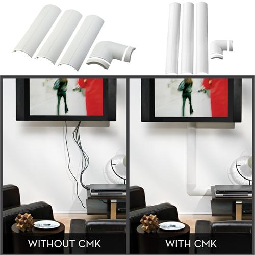 View a large image of the OmniMount Wall Cable Management System White CMK CMK-MINI here.