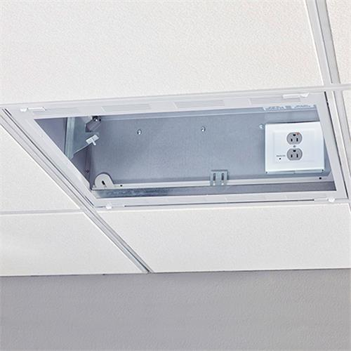 View a large image of the Chief CMS492P2 2 x 2 Plenum Rated Storage Box with Filter & Surge here.