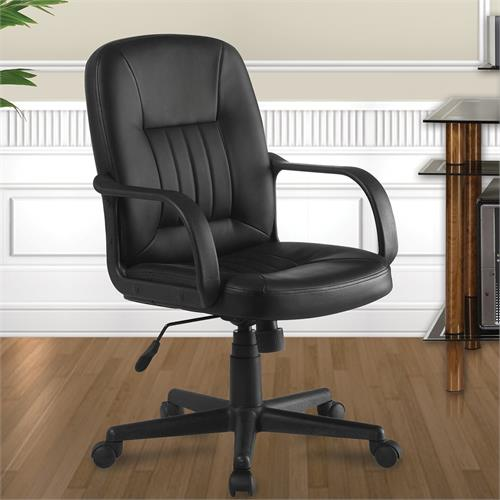 View a larger image of the Living Essentials Everett Bonded Leather Executive Desk Chair COLBK1064 here.