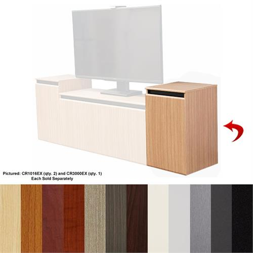 View a large image of the Audio Visual Furniture - VFI Single 16U Rack Credenza Various Colors CR1016EX here.