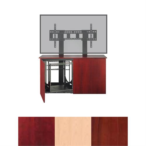 View a large image of the AVTEQ Credenza (Single or Dual Mount, 12U, 2 Bay, Veneer) CREDENZA2-V here.