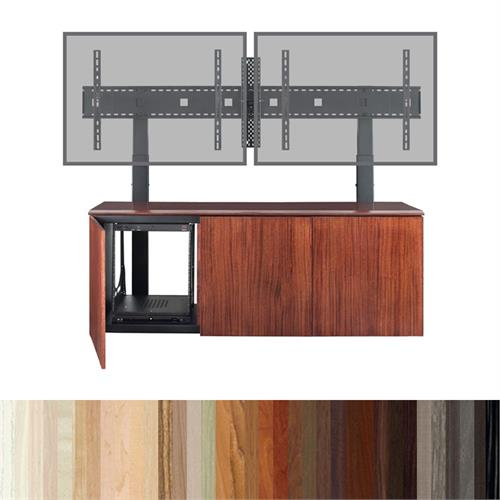 View a larger image of the AVTEQ Credenza (Single or Dual Mount, 12U, 3 Bay, Laminate) CREDENZA3-L here.
