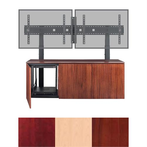 View a larger image of the AVTEQ Credenza (Single or Dual Mount, 12U, 3 Bay, Veneer) CREDENZA3-V here.
