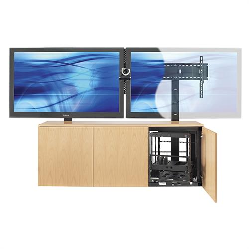 View a larger image of the AVTEQ Conference Room Credenza for Single 103 in. or Dual 80 in. Screens (Various Laminate Finishes) CREDENZA3-L.