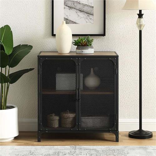 View a large image of the Walker Edison Urban Industrial 32 in TV Stand Oak AF30SOICRO here.