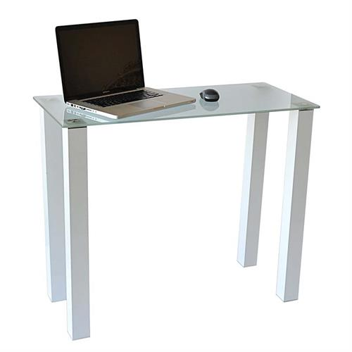 View a larger image of RTA Frosted Glass Writing Table or Laptop Desk (White) CT-015W.