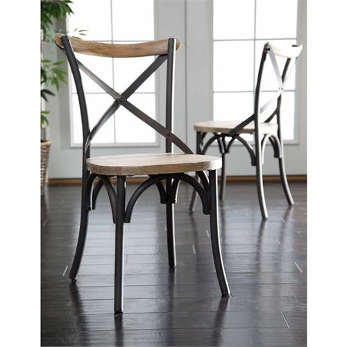 View a larger image of the Walker Edison Set of Two Urban Reclamation Deluxe Dining Chairs CWM2MDX.