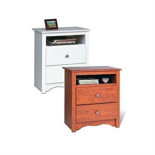 View a larger image of the Prepac Monterey Collection Extra-Tall 2-Drawer Night Stand (Cherry or White) C-2428.