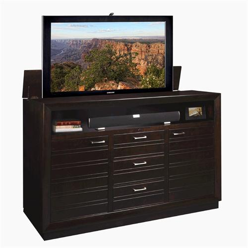 View a larger image of the TV Lift Cabinet Concord Lift for 40-63 inch Screens (Espresso) AT006313.
